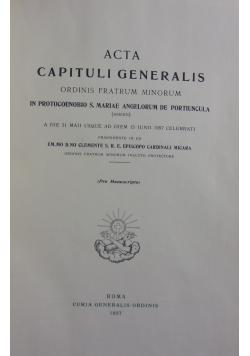 Acta Capituli Generalis