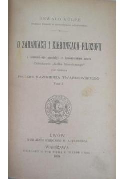 O zadaniach i kierunkach filozofii, tom V, 1899