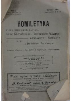 Homiletyka pismo miesięczne, sierpień 1908 r.