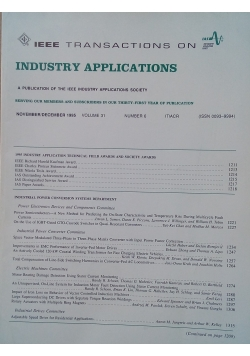 IEEE Transactions On Industry Applications, vol. 31, no. 6, 1995