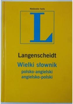 Wielki słownik polsko-angielski, angielsko-polski. Langenscheidt