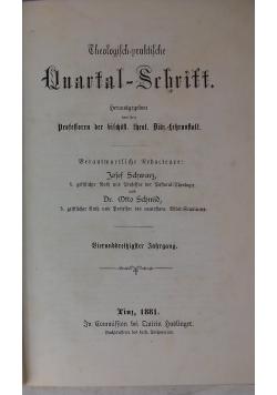 Theologisch-praktische Quartal-Schrift. , 1881 r.