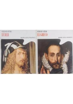 Zestaw dwóch książek - Geniusze sztuki Durer/El Greco