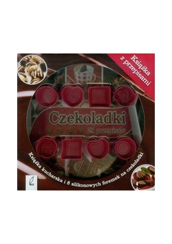 Czekoladki 21 przepisów. Książka kucharska i 8 silikonowych foremek na czekoladki