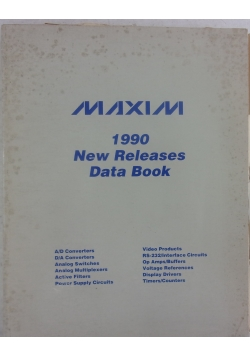Maxim 1990 new releases data book