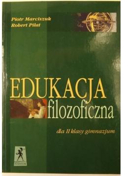 Edukacja filozoficzna dla II klasy gimnazjum
