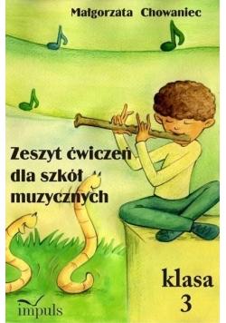 Zeszyt ćwiczeń dla szkół muzycznych klasa 3