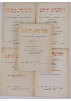 Katalog zabytków sztuki w Polsce. Tom X, województwo Warszawskie-5 zeszytów