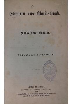 Stimmen aus Maria-Laach, 1895 r.