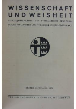 Wissenschaft und Weisheit, 1934r.