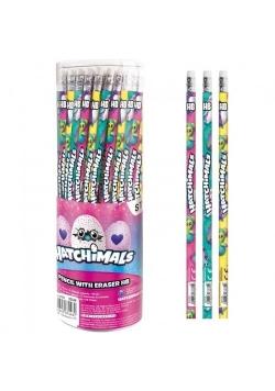 Ołówek z gumką Hatchimals (48szt)