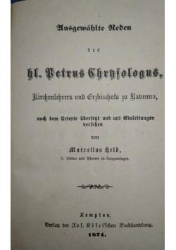 Des heiligen Petrus Chrndologus, Leben und Schriften, 1874 r.