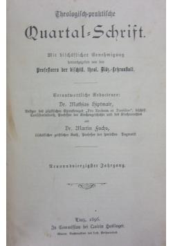 Theologisch praktische Quartalschrift 49 band,  1896r.