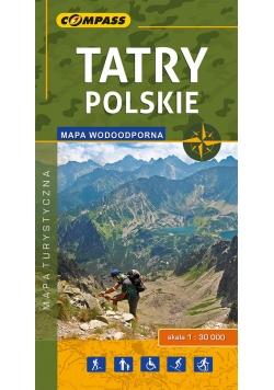 Tatry Polskie Mapa turystyczna 1:30000 wodoodporna