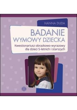 Badanie wymowy dziecka