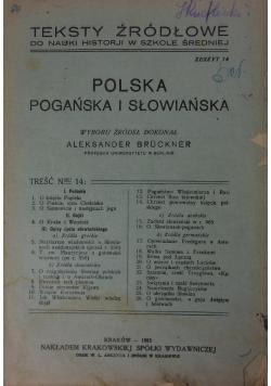 Polska - pogańska i słowiańska, 1923 r.