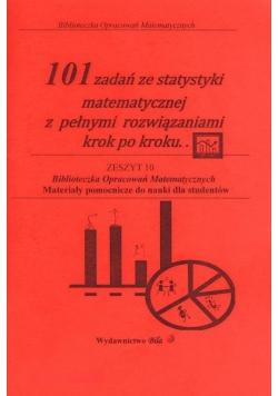 101 zadań ze statystyki matematycznej