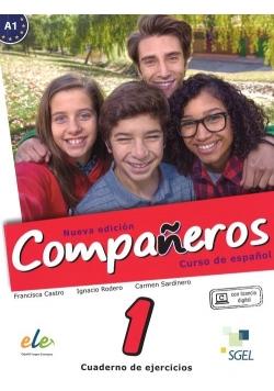 Companeros 1 Ćwiczenia + licencia digital - nueva edicion, Nowa