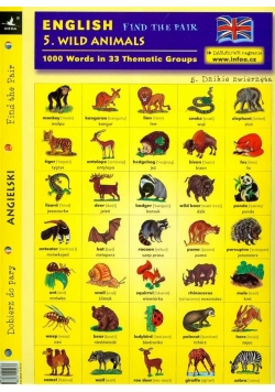 English. Find the pair. Wild animals