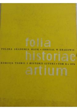 Folia Historiae Artium - Teoria i historia sztuki, Tom X