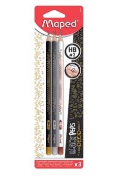 Ołówek Blackpeps HB bls 3szt MAPED
