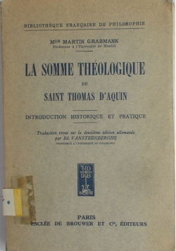 La somme theologique  , 1930 r.