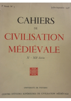 Cahiers de civilisation medievale
