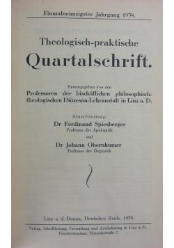 Teologisch-praktische Quartalschrift, 1937r.