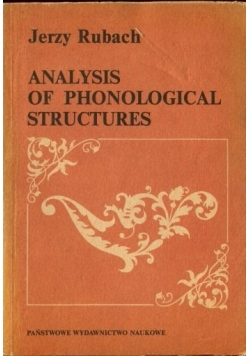 Analysis of phonological structures