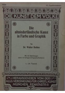 Die altniederlandische Kunst in Farbe und Graphik ,1926r.