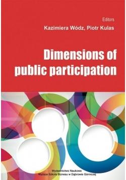 Dimensions of public participation