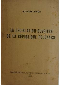 La legislation ouveiere de la republique polonaise, 1921r.