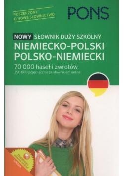 PONS Nowy słownik duży szkolny niemiecko-polski, polsko-niemiecki