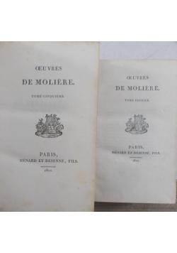 Oeuvres de Moliere, T I-II, V-VI, 1822 r.