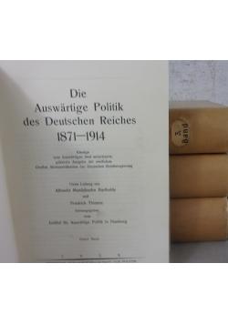 Die Auswartige Politik des Deutschen Reiches ,1928r.,Tom I-IV