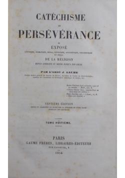 Catechisme Perseverance, tome Huitieme, 1854 r
