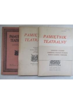 Pamiętnik teatralny, Zeszyty 1(13), 1(21) i 3-4(111-112)