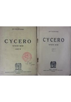 Cycero mowy, cz. 2-3, 1923 r.