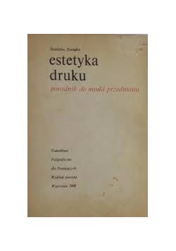 Estetyka druku. Poradnik do nauki przedmiotu