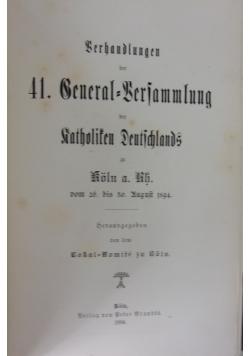 Berhandlungen der Beneral,1894r.