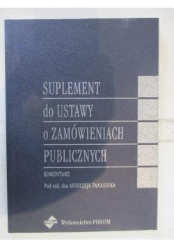 Suplement do ustawy o zamówieniach publicznych
