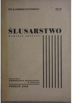 Ślusarstwo ,1948r.