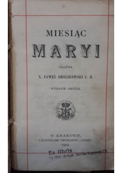 Miesiąc Maryi, 1903 r.