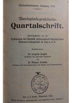 Theologisch-praktische Quartalschrift, 1932 r.