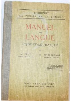 Manuel de langue, 1926 r.