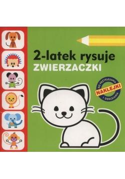 2-latek rysuje Zwierzaczki