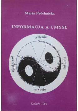 Informacja a umysł