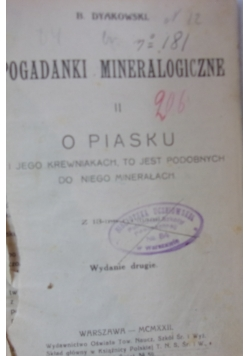 Pogadanki mineralogiczne