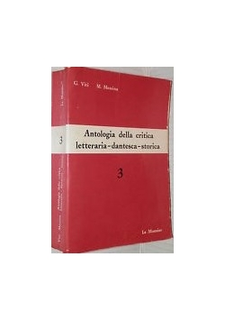 Antologia della critica letteraria-dantesca-storica 3