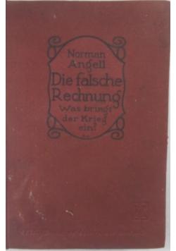 Die falsche Rechnung, 1920 r.